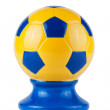 ukrainian soccer ball — Stock Photo