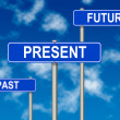 Past Present Future sign — Stock Photo #10540365