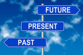 Past Present Future sign — Stock Photo