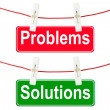 Problems and Solutions signs — Stock Photo