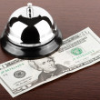 Service Bell with money — Stock Photo