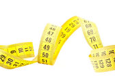 Measuring with tape measure — Stock Photo