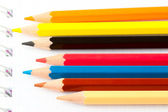 Many Different Colorful Pencils — Stock Photo