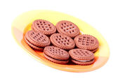 Cookie on the plate — Stock Photo