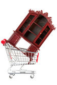 Shopping cart and sideboard — Stock Photo