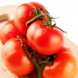 Stock Photo: Stack of perfect tomatos