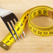 Fork with measuring tape — Foto de Stock