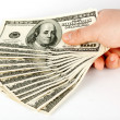 Hand with money — Stock Photo