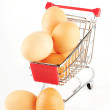 Shopping Cart with Eggs — Stock Photo #8587834