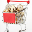 Shopping Cart with Quail Eggs — Stock Photo #8587843