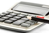 Pencil with calculator — Stock Photo