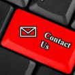 Contact Us icon button — Stock Photo