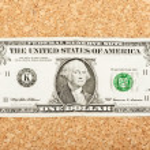 One dollar bills — Stock Photo #9149771