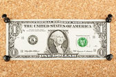 One dollar bills — Stock Photo