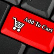 Shopping cart icon button — Stok fotoğraf
