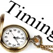 Stockfoto: Pocket watch with timing sign