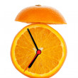 Orange Fruit Alarm Clock — Stock Photo