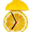 Lemon Alarm Clock — Stock Photo