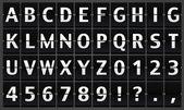Alphabet panel — Stock Photo