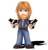 Chuck Norris Chibi — Stock Photo