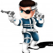 Nick Fury Chibi — 图库照片