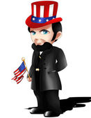 Abraham Lincoln Chibi — Stock Photo