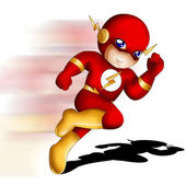 Flash Chibi — Stock Photo