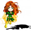 Jean Grey (Phoenix) Chibi — Stock Photo