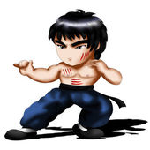 Bruce Lee Chibi — Stock Photo