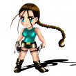 Tomb Raider Lara Croft Chibi — Stock Photo