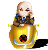 Professor X Chibi — Stock Photo