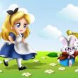 Alice in Wonderland Chibi — Stock Photo