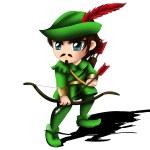 Robin Hood Chibi — Stock Photo