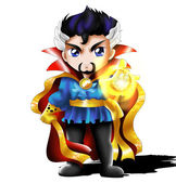Dr. Strange Chibi — Stock Photo