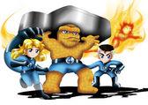 The Fantastic Four Chibi — Stock Photo