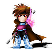 Gambit Chibi — Stock Photo