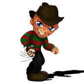 Freddy Kruger Chibi — Stock Photo