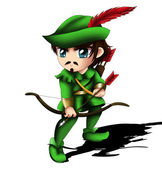Robin Hood Chibi — Stock Photo