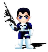 The Punisher Chibi — Stock Photo