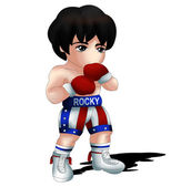 Rocky Balboa Chibi — Stock Photo