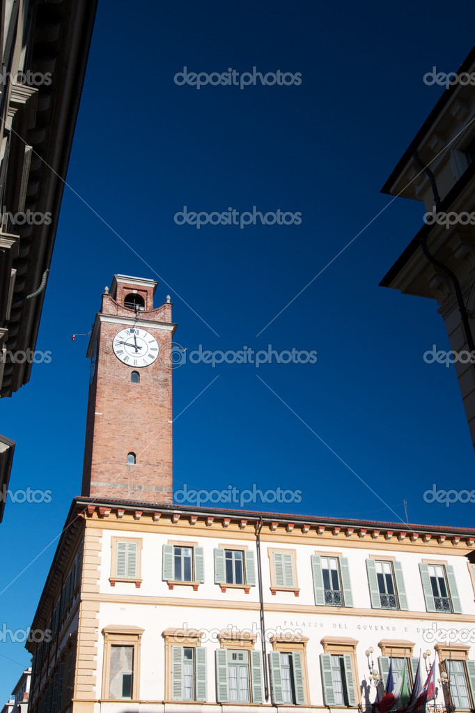 Novara- government palace  Stock Photo #8238090