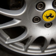 Stock Photo: Ferrari wheels