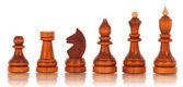 шахматы. группа черный деревянные шахматы — Стоковое фото