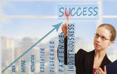 Business woman and concept of success, growth and development — Stock Photo