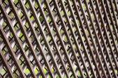 Wooden lattice fence, background, texture — Stock Photo