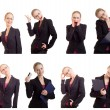 Royalty-Free Stock Photo: Collage of a young and successful business woman