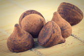 Caramelle di cioccolato al tartufo — Foto Stock