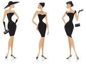 Black dress — Stock Vector