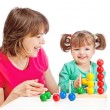 Stock Photo: Mom plays with her daughter