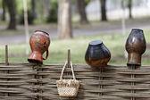 Ukrainian ethnic hand-made articles — Stock Photo